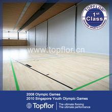 Oak Wood Effect Ceramic Vinyl Flooring Tiles For Sport Court