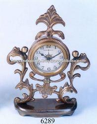 antique brass table clock, desk clock