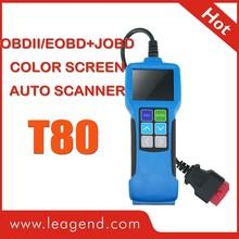 JOBD/OBD2/EOBD Multi Car vehicle Diagnostic Tool/ auto scanner T80-color-screen,review live data and datastream graph