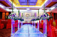 Kaiyue fashional aluminum portable mobile outdoor concert indian wedding stages decorations