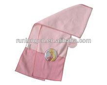 children polar fleece scarf with PVC patch