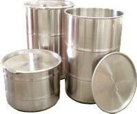 55 Gallon Stainless Steel Barrels