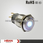 CE ROHS bi-color led push button switch