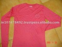 Plain Long Sleeve Ladies T Shirt