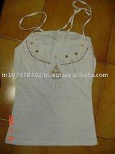 O Neck Plain Dyed Sleeveless Women Spandex Jersey
