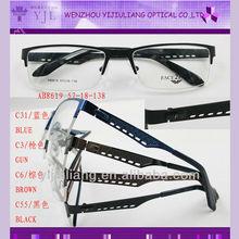 unisex half rim eyeglasses frames