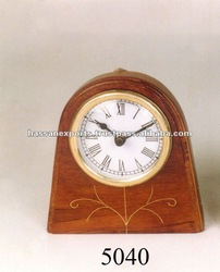 Wooden antique table clock