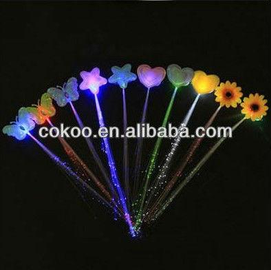 ... baratos de fibra óptica led luzes de cabelo decoração do festival