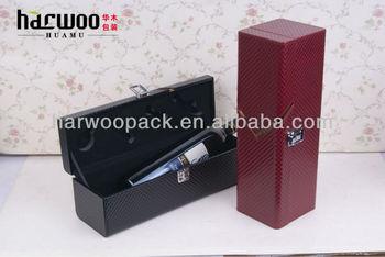 PU Leather Wine Single Storage Box Wine Carrier Bag