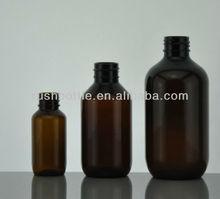30ML round shoulder plastic amber PET bottle