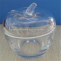 glass apple shaped jar