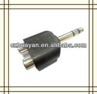 6.35mm stereo plug to 2*RCA jack