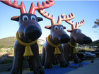 2013 hot selling christmas reindeer inflatable