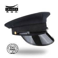 Custom flat military long peak caps