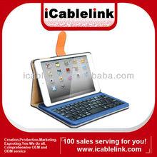 Detachable Bluetooth keyboard case for ipad mini2&pad mini,blue