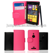 newest Wallet Leather Case with credit card holder For Nokia Lumia 925