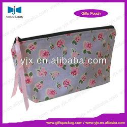 High quality eco cotton waffle cosmetic bag