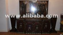 italian dining room mirrored sideboard mahogany