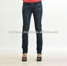 Pleated back yoke women's Jeans