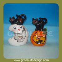 Halloween party decor white ghost pumpkin