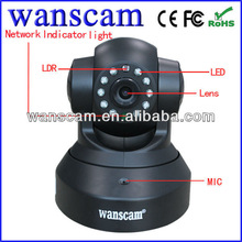 P2P IPCam Wireless IP Pan/Tilt/ Night Vision Internet Surveillance Camera Built-in Microphone With Phone remote monitoring