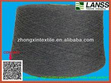 100%polyester spun heather grey yarn 30s (80%black20%white)