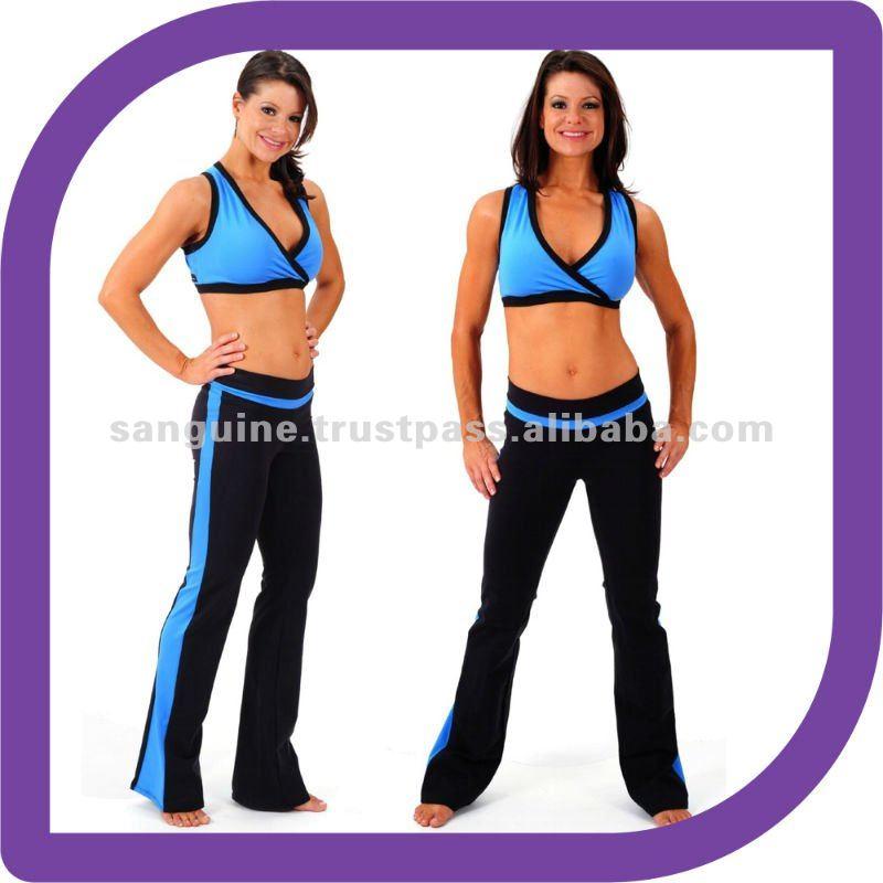 Yoga ejercicio con estilo de entrenamiento pantalones Supplex ...