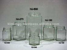 Hexagon Glass Jar