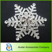 Christmas Snowflake christmas tree brooch decoration