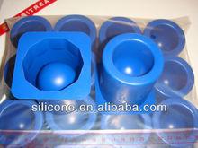 beautiful round shape silicone ice cube tray