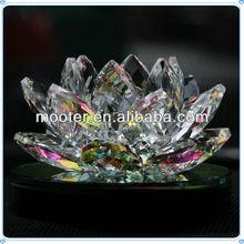 2013 Modern Design Colorful Crystal Lotus Favor For Wedding Decoration,Colorful Crystal Lotus Favor