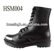 100% waterproof genuine leather lace to toe leisure military leather boots with rubber sole