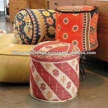 vintage kantha poufs / ottomans