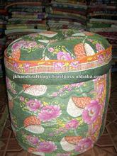 vintage sari ottoman / poufs