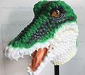 el 2013 más altos de venta mardi gras vestido de lujo ideal de vida tamaño de látex máscara de cocodrilo