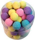 KITTY SPONGE BALLS - Lots 30/60 Soft Spongy Foamy Bouncy Balls Kitten Cat Toys