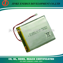 3.7v Li-polymer 1300mah rechargeable battery 405163 with pcb and connector