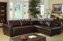 Antique American corner sofa,L shaped living room furniture,leisure genuine leather corner sofa (BF01-20105)