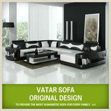 VATAR modern living furniture black & white sofa