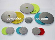 Wet use granite diamond polishing pads, marble polishing pads for granite and marble