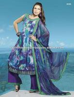 Unstitched Latest Anarkali Printed Salwar Suits