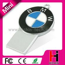 Metal mini style car brand 2gb usb thumb drive gift