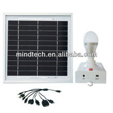 3w portable solar led light and solar lighting kit charged by sunlihgt and solar home system