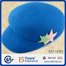 2012 Fashion 100% wool felt blue sailor cap