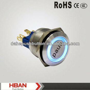 CE ROHS dot illuminated pushbutton