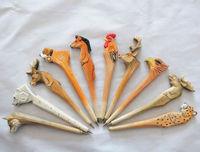 Europen American honourable indoor goods of furniture animal zoo Hand-made ballpoint pen wood crafts