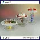 small acrylic cake plate display stand/perspex racks