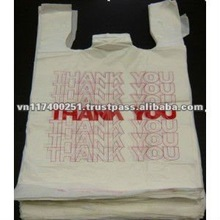 "HDPE white T-shirt ""Thank you"" bags"