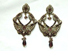 Indian Fashion silver Bollywood Chunky designer earrings