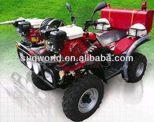 4 wheels driving ATV fire car